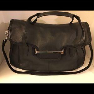 Coach Black Taylor Marin Flap Leather Shoulder bag